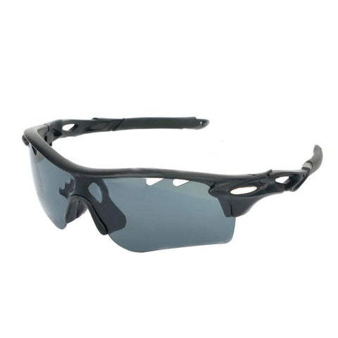 OREKA Sport Cycling UV400 Protection Sunglasses Goggles - Black + Grey (FSLV)