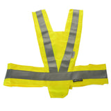 Salzmann 289-1 Safety Reflective Vest for Motorcycle - Silver + Fluorescent Yellow