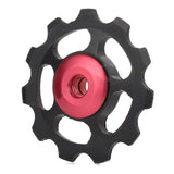 Aluminum Alloy Rear Derailleur Pulley - Black + Red (FSLV)