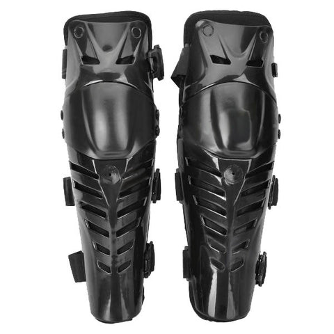 FG Protective PE + EVA + Neoprene Motorcycle Cycling Knee Supports - Black (Pair) (FSLV)