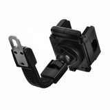 Adjustable Mobile Phone ABS + Plastic Stand Holder for Motorcycle - Black (FSLV)