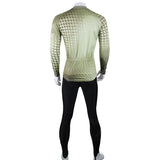 ShengQi Men's Long-sleeve Cycling Jersey + Pants Set - Green + Black (M)