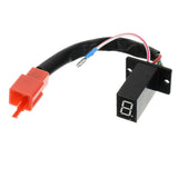 DIY Red Light Digital Display Indicator for Motorcycle - Black + Red (FSLV)