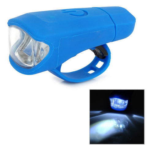 2-Mode White Light Bike Lamp - Blue (FSLV)