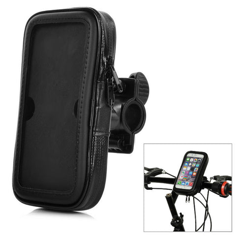 Bike Touch Screen Waterproof Case w/ Lanyard for IPHONE6 -Black (FSLV)
