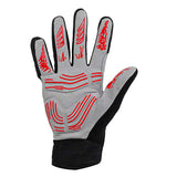 Moke Anti-Shock Touch-Screen Full-Finger Cycling Gloves - Red (FSLV)