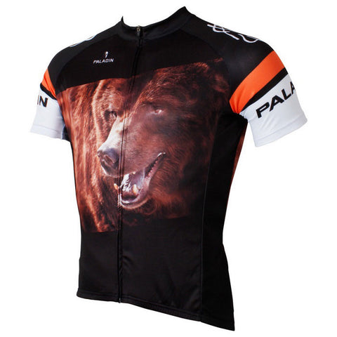 Paladinsport Men's Bear Style Short Jersey Top Shirt - Multicolor (FSLV)