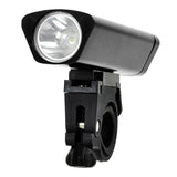 USB Charging Bicycle White Light Safty Front Lamp with Holder - Black