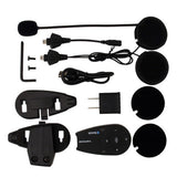 5-Rider Motorcycle Bluetooth Helmet Intercom - Black (FSLV)