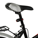 USB 3-Mode Red Light Bike Taillight / Warning Light - Red + Black