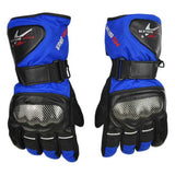 PRO-BIKER Motorcycle Warm Anti-Slip Racing Gloves - Blue (Pair )
