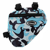 CTSmart Bicycle Bike Triangle Top Tube Bag - Blue Camouflage (FSLV)