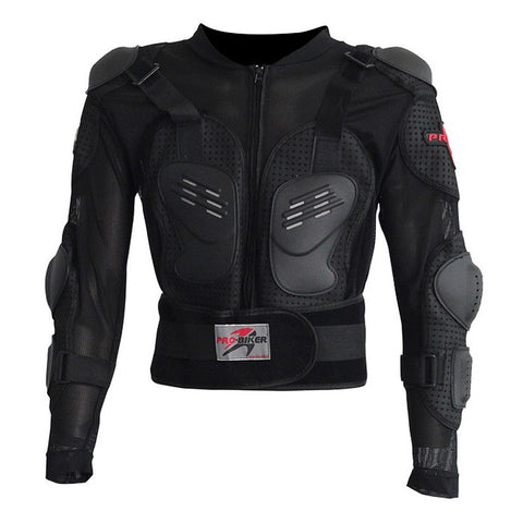 PRO-BIKER HX-P13 Motorcycle Riding Safety Armor Jacket - Black