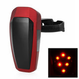 Automatically 10-LED Fast Strobe Bike Taillight Red Light - Red (FSLV)