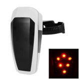 Automatically 10-LED Fast Strobe Bike Taillight Red Light - White (FSLV)