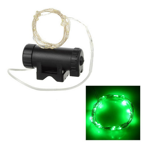 20-LED Bike Wheel Spoke Light Green Light - White (FSLV)