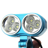 Fandy Fire XM-L 6-LED 5800lm Cool White 3-Mode Bike Light - Blue (FSLV)