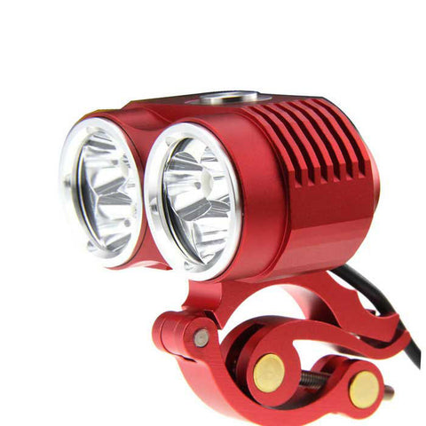 FandyFire XM-L T6 6-LED Cool White 3-Mode Highlight Bicycle Bike Light - Red (FSLV)