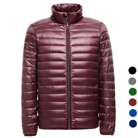 Men's Ultra Light Thin Down Jacket Coats - Red (FSLV)
