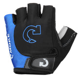 MOke Outdoor Cycling Riding Bike Motorcycle Anti-Slip Half-Finger Gloves - Black + Blue (FSLV)
