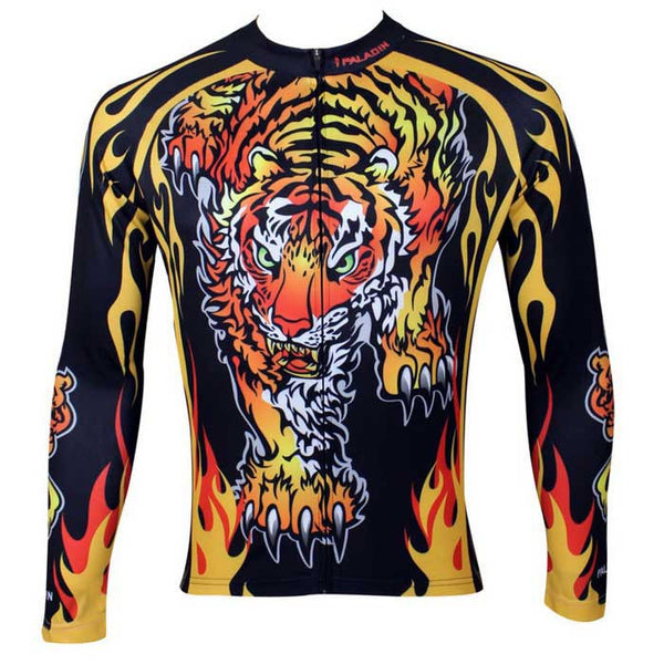 0f3490177 Paladinsport Men s Tiger Pattern Cycling Jersey - Black + Yellow –  Kingsmotorbikes.com