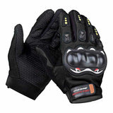 Outdoor Motorcycle Riding Cycling Protective Full-Finger Gloves - Black (Pair) (FSLV)