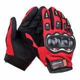 Outdoor Motorcycle Riding Cycling Protective Full-Finger Gloves - Red + Black (Pair) (FSLV)