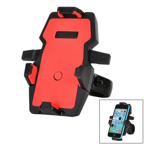 360 Rotation Motorcycle Bicycle Mount Holder for GPS, Phone - Red (FSLV)