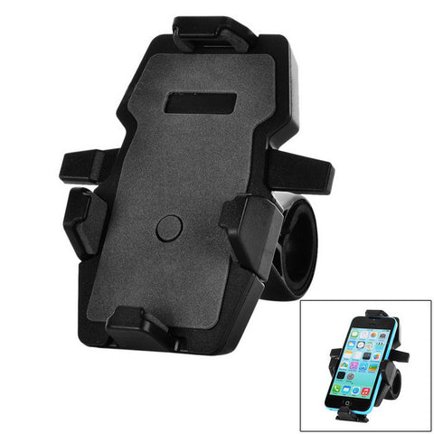 360 Rotation Motorcycle Bicycle Mount Holder for GPS, Phone - Grey (FSLV)