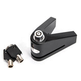 CNC Aluminium Alloy Lock for Motorcycle - Black (FSLV)