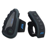 Motorcycle Helmet Bluetooth Headset Intercom - Black + Grey (US Plug) (FSLV)
