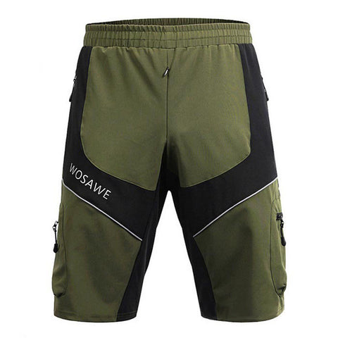 Wosawe Summer Waterproof Cycling Sports Shorts - Army Green