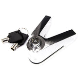 CNC Aluminium Alloy Lock for Motorcycle - Silver (FSLV)