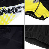 Spakct Quick-drying Padded Short Cycling Pants - Black + Yellow
