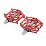 MZYRH Ultra Light Bike Pedals - Red + Silver Grey (Pair) (FSLV)
