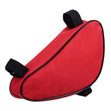 B-Soul Nylon Triangle Bike Top Tube Bag - Red + Black (FSLV)