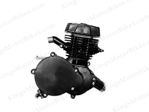 Jet 66cc/80cc (40mm intake) Black Bicycle Engine ONLY