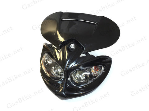 Universal Bike Headlights - Black