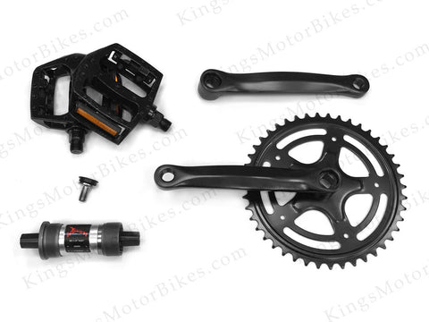 GasBike GT Pedal Kit wit 118mm Bottom Bracket Cartridge