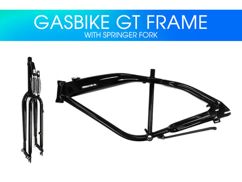 Gasbike GT Aluminum Bike Frame with Double Springer Fork