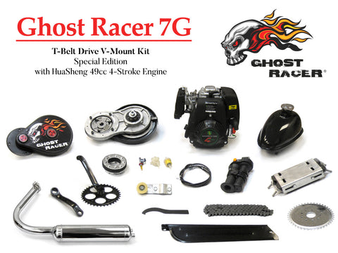 Ghost Racer 7G T-Belt Drive V-Mount Kit Special Edition With HuaSheng 49cc 4-Str