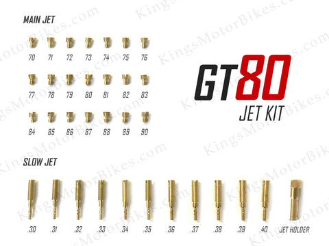 GT80 Carburetor Jet Kit
