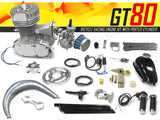 GT80 Bicycle Racing Engine Kit 66cc - 4.5 HP with Ported Cylinder