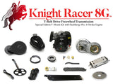 Knight Racer 8G - T-Belt Drive Freewheel Transmission Special Edition V-Mount Motorized Bicycle