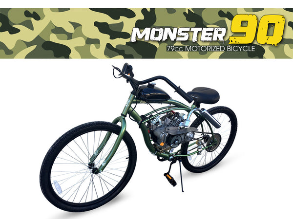 Monster 90  79cc Motorized    Bicycle        Kingsmotorbikes