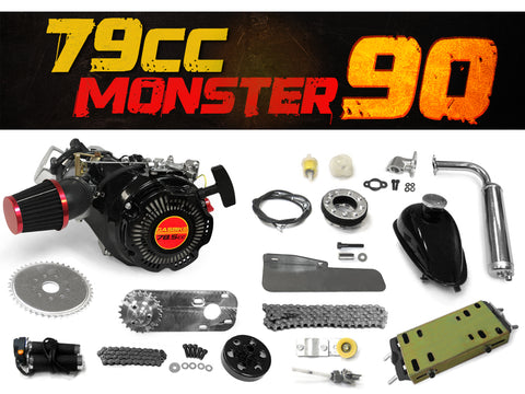 79cc Monster 90 Bike Engine Kit - Complete 4-Stroke Kit
