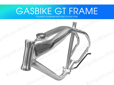Gasbike GT Aluminum Bike Frame With Built-in Gas Tank - Polished Aluminum