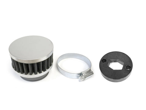 79cc Round High Performance Air Filter - Silver