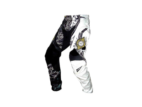 Scoyco Motorcycle Professional Racing Pants - Black + White