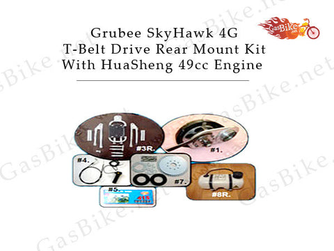 Grubee SkyHawk 4G T-Belt Drive Rear Mount Kit With HuaSheng 49cc Engine